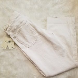 {Lucky Brand} Sweet Crop White Jeans